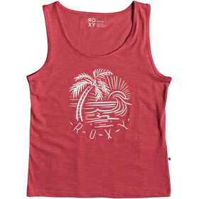 Roxy Red Lines Color Tank Top Women american beauty